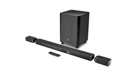 JBL Barra de Som Bar 5.1 -  4K Ultra HD canal 5.1 com alto-falantes surround totalmente sem fios
