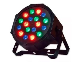 Refletor Led Par 18 Leds Rgb Digital Strobo Bivolt Pls